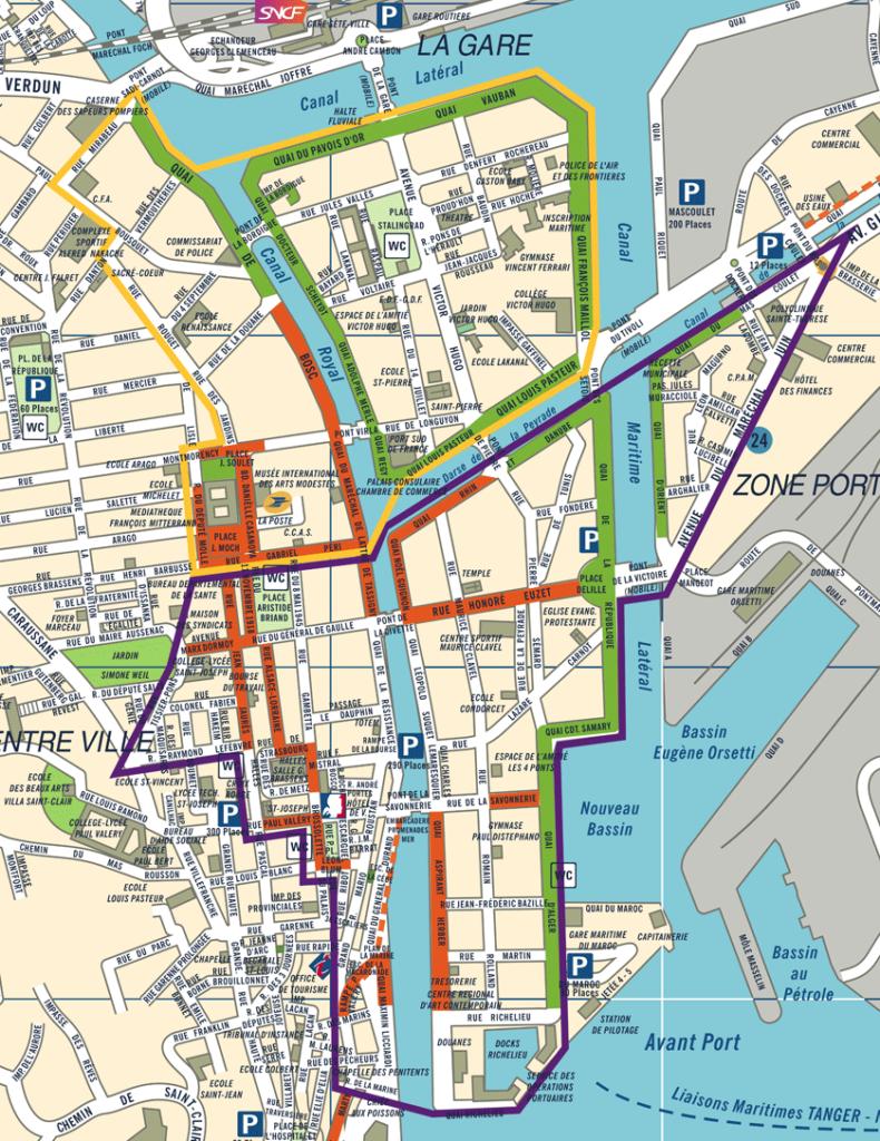 Plan des zones de Sète - Felicitta Parc, stationnements et parking à Sète